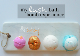 Trying out Lush Bubble Bars for a frothy experience!