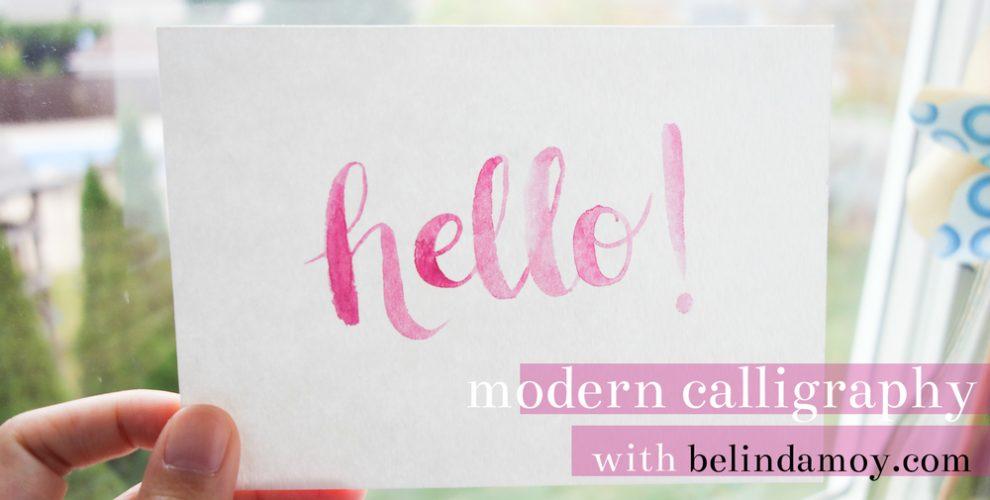 Modern Calligraphy With belindamoy.com