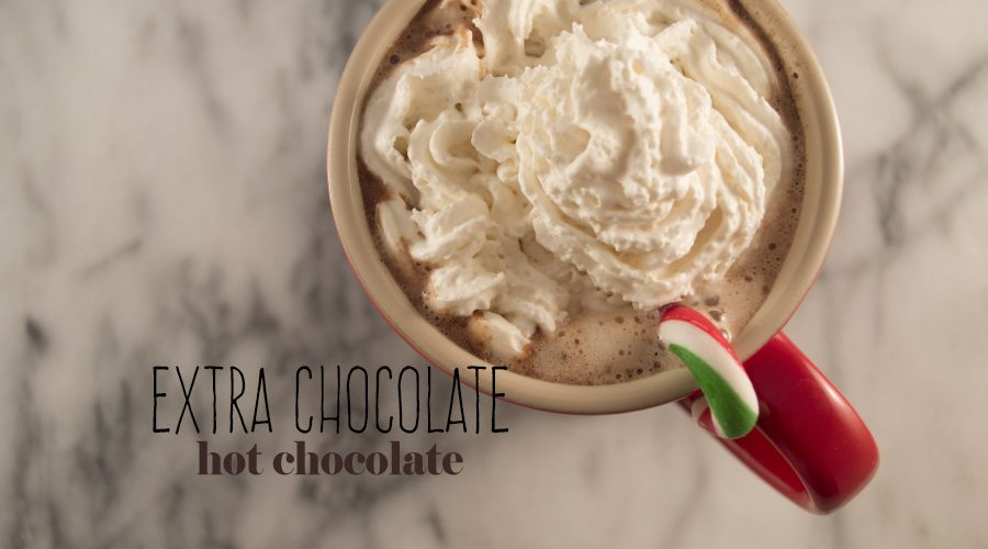 The epitome of the holiday season: hot chocolate.