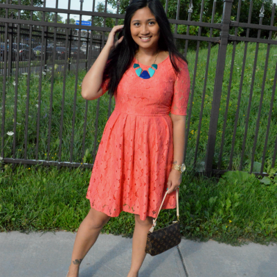 Coral Dress and a High School Graduation