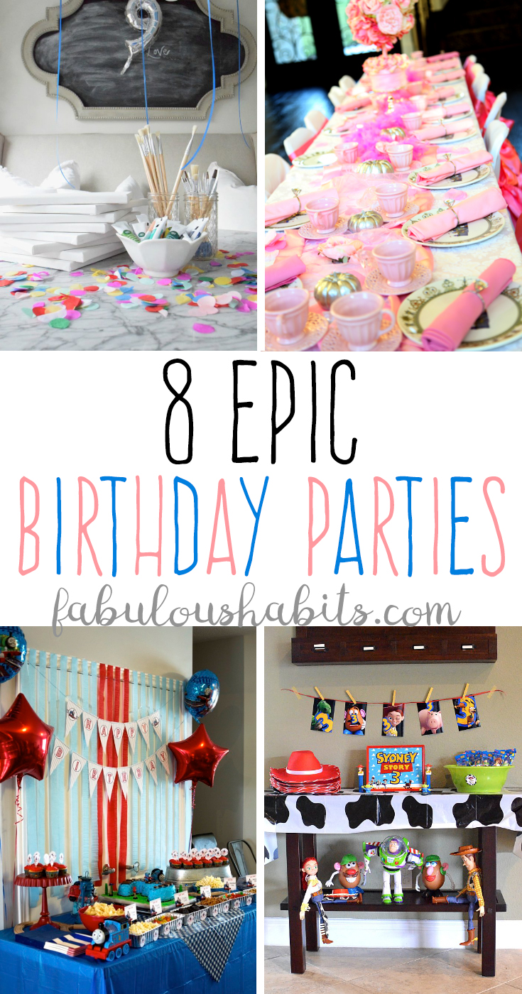8 awesome birthday party ideas!