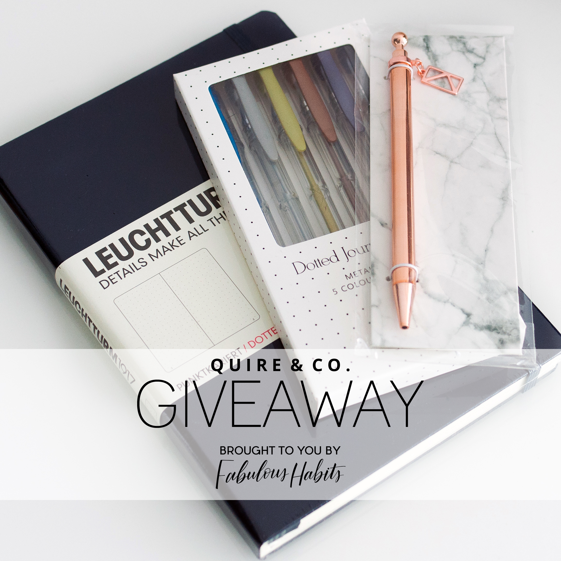 Partnered with Quire & Co for a fresh, new look for the Fabulous Habits blog