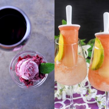 Use wine in more ways than one! Desserts, slushies, and icy treats!