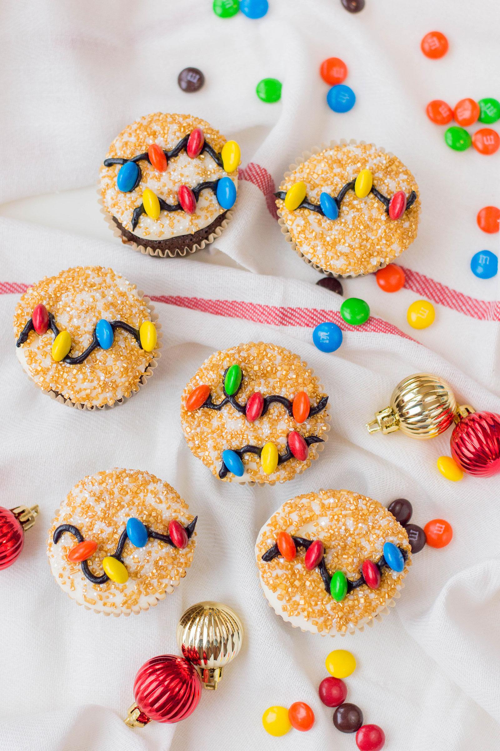 Christmas Light Cupcakes
