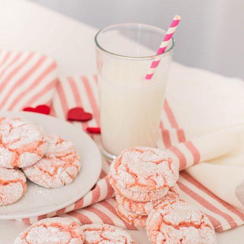 Pink Crinkle Cookies