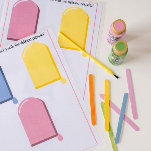 Popsicle Color Matching Activity