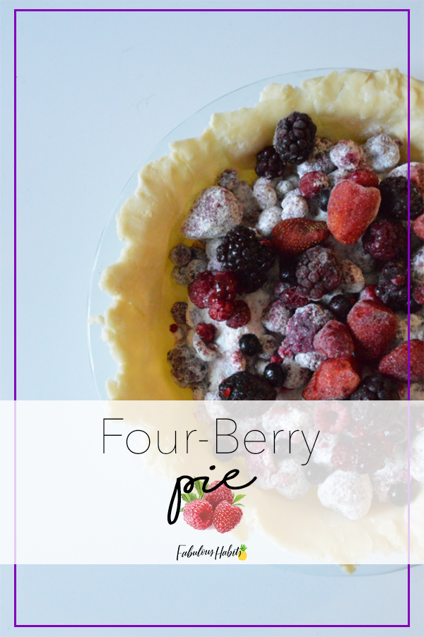 When Spring calls, it's time to bake some pie! For this week's pie, I decided to go for a four-berry one.
