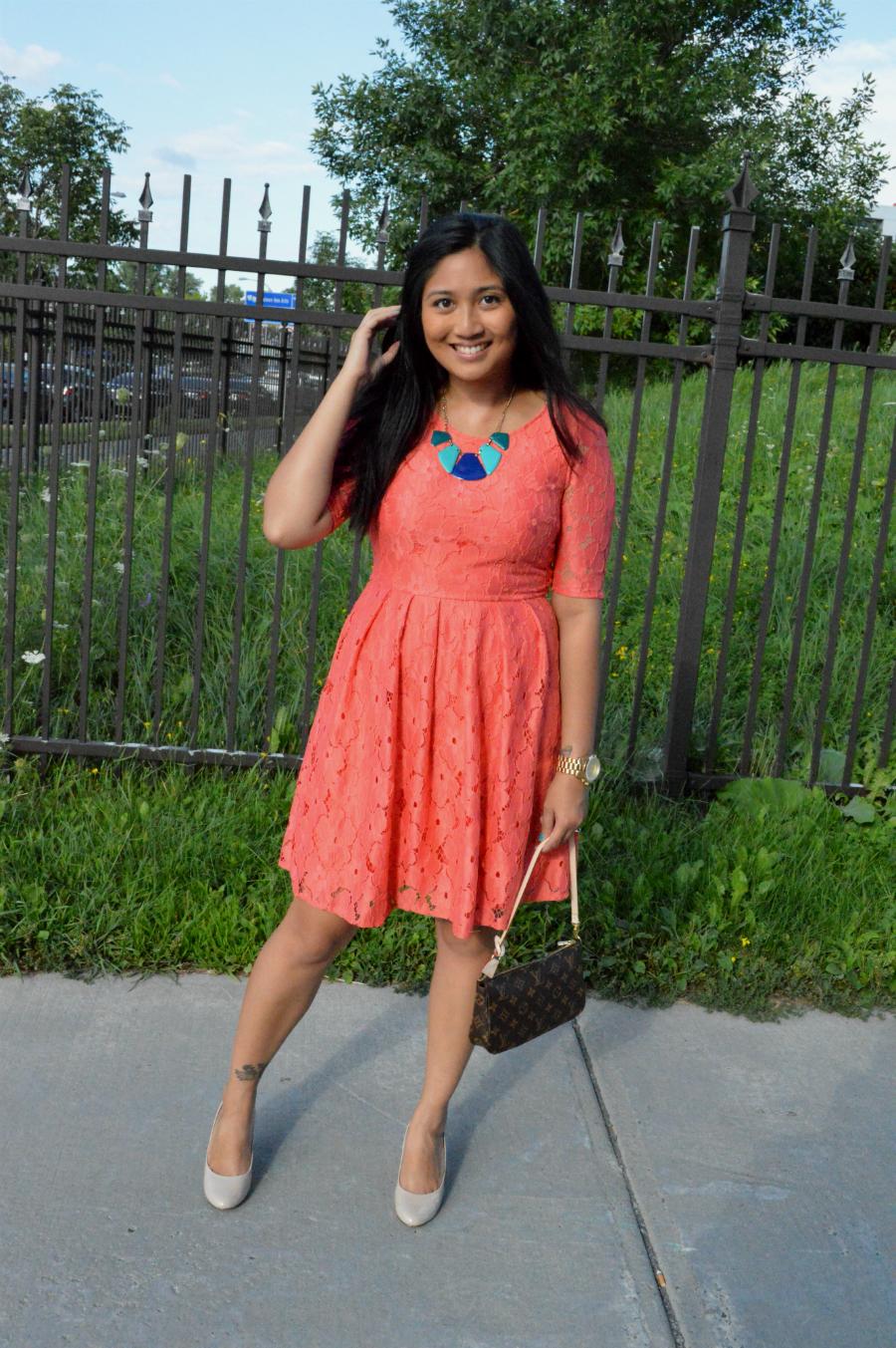 Coral Dress and a High School Graduation