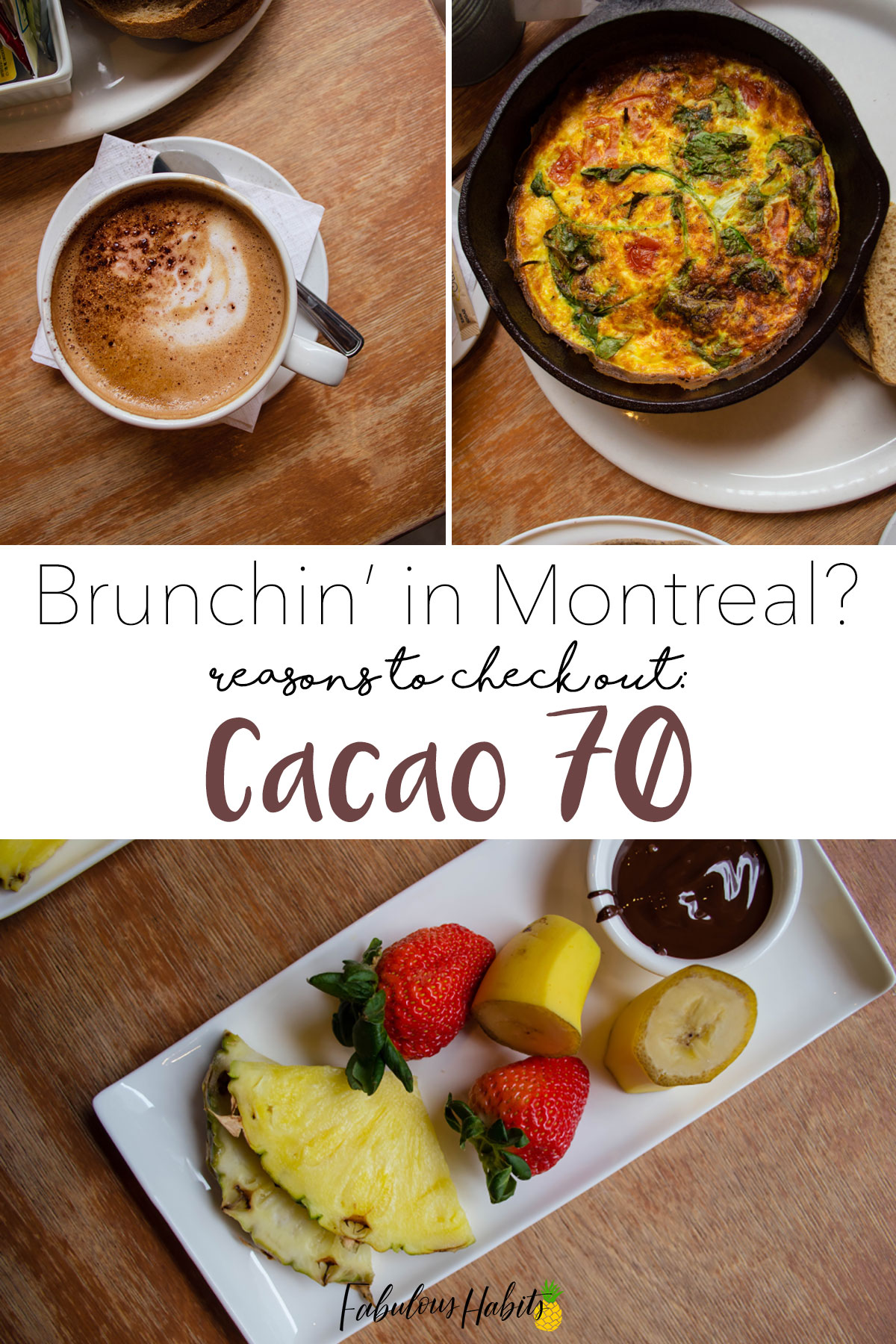 Having brunch at one of Montreal's most popular restaurants: Cacao70. Satisfy your sweet craving at their well-established resto!