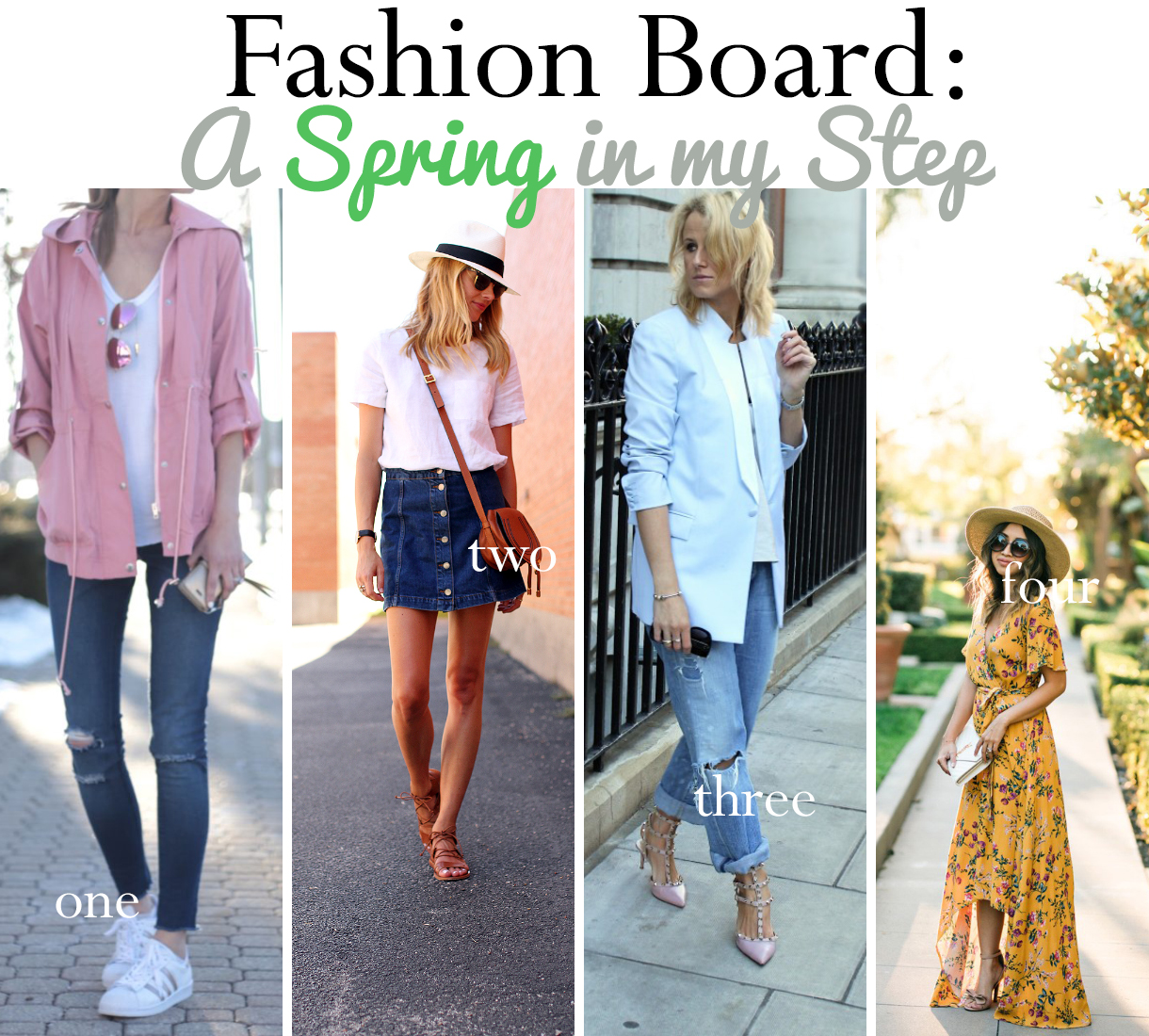 Celebrating all the spring outfits I'm looking forward to rockin'!