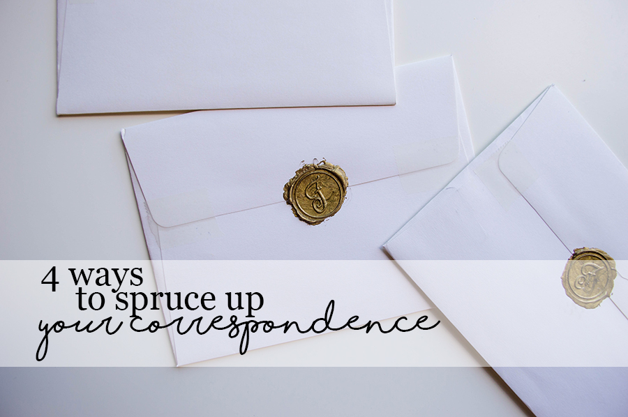 Doing things the traditional way with correspondence through snail mail!