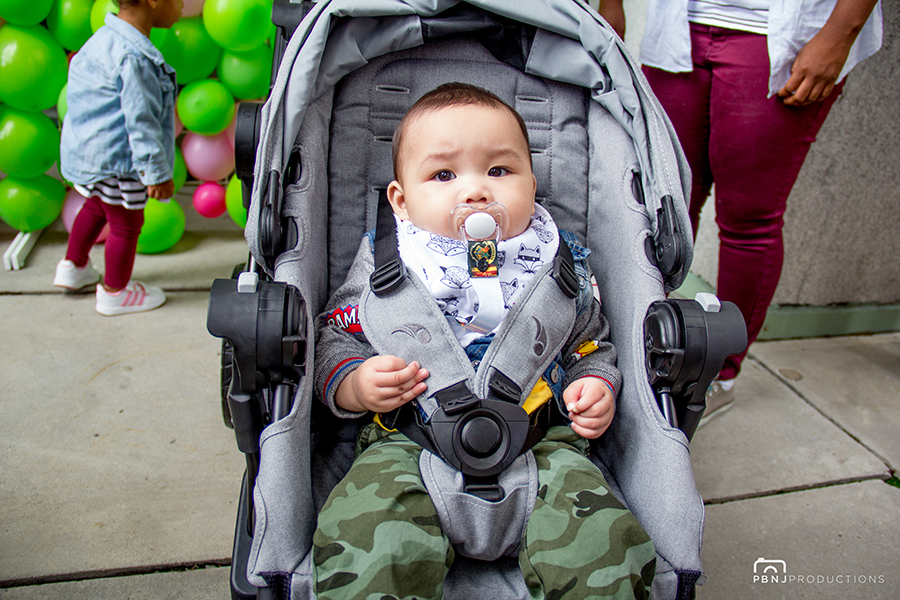 Leo's loving the fact that he gets to test out the newest in Baby Jogger with their City Select LUX