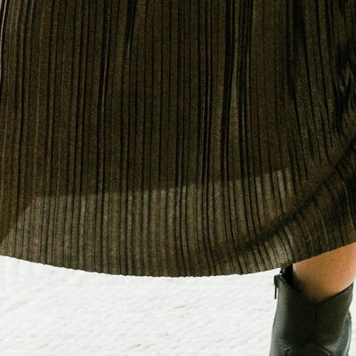 Holiday Wardrobe: Shimmery Pleats