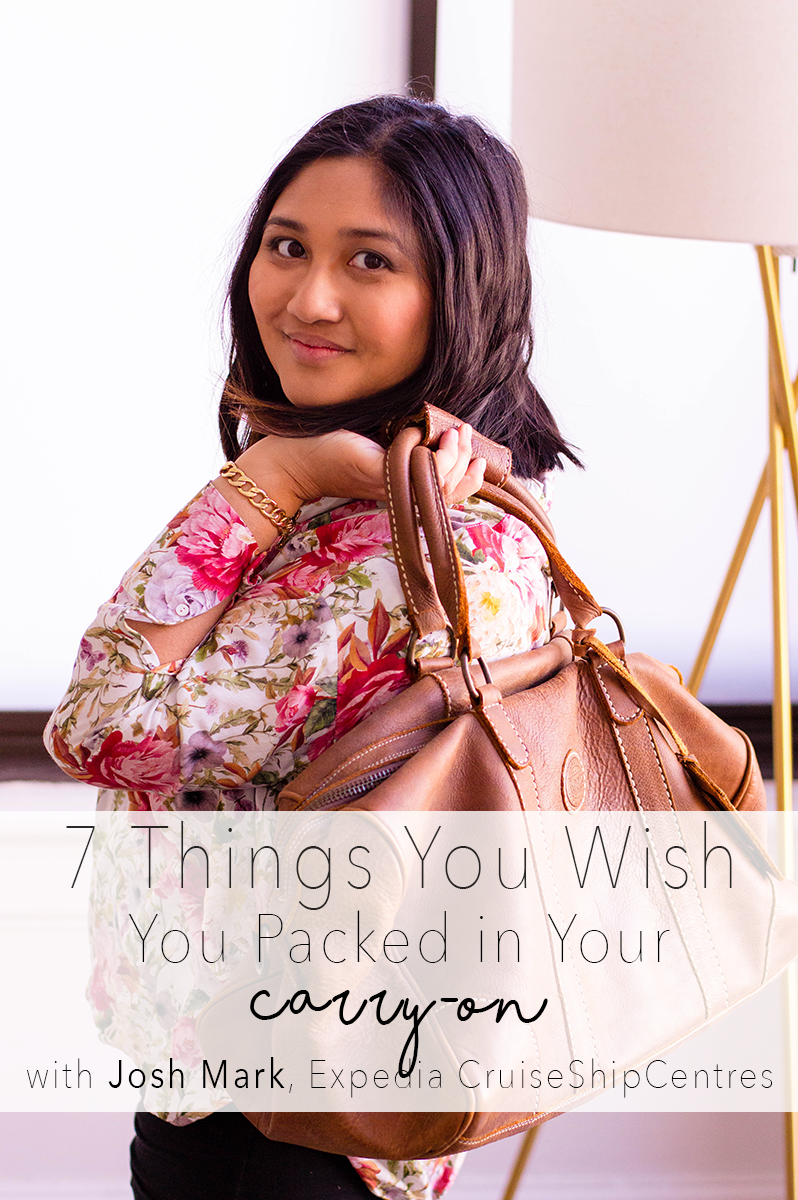I've partnered up with Josh Mark for the ultimate checklist for your carry-on luggage!