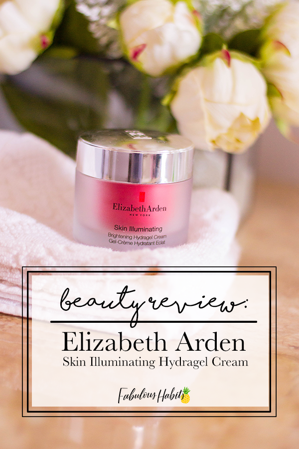 Testing out the Elizabeth Arden Skin Illuminating Hydragel Cream - our beauty guru tells it all.