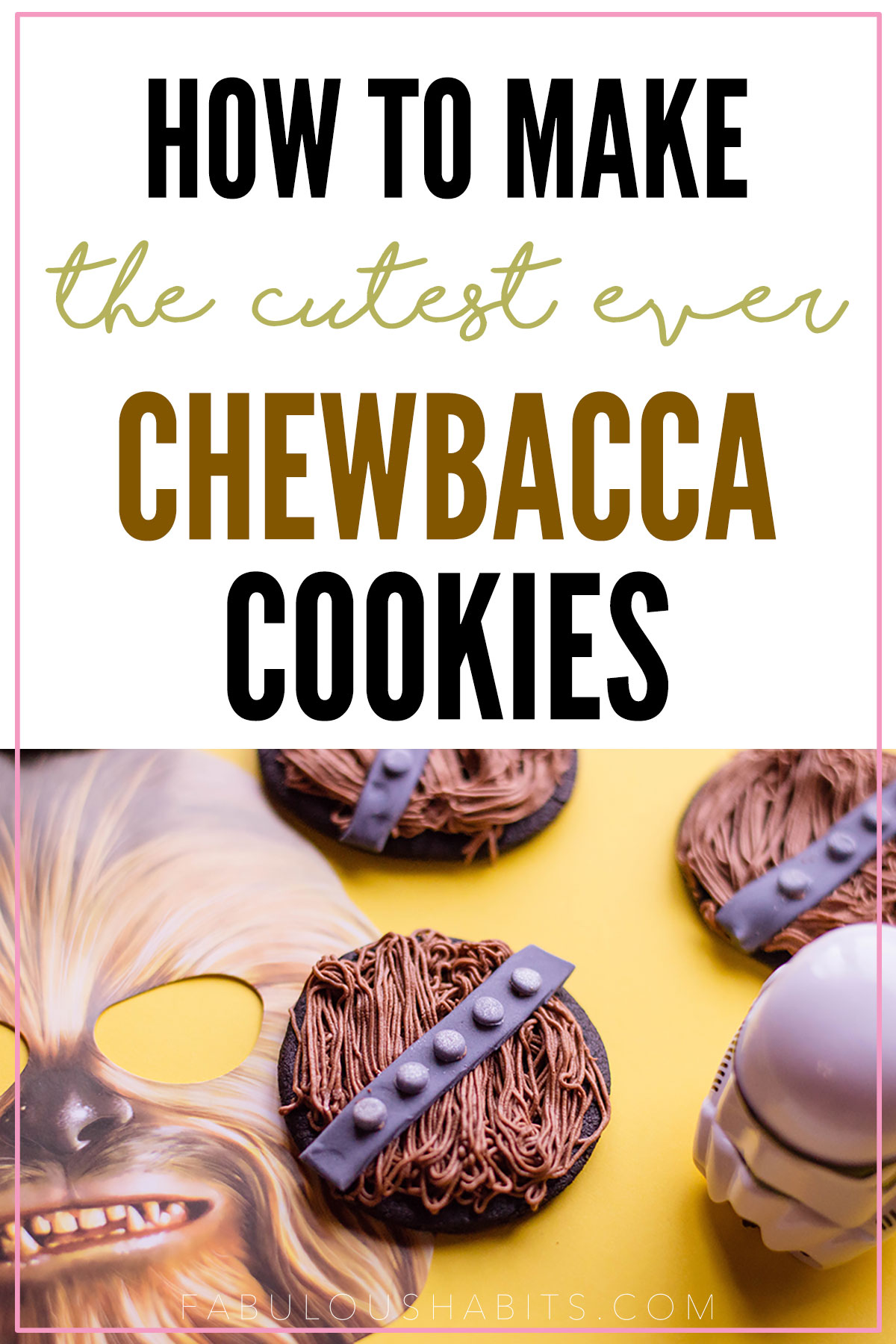 How to make Chewbacca cookies - Star Wars fans, you won't want to miss out on this recipe! #starwarsrecipes #starwarsparty