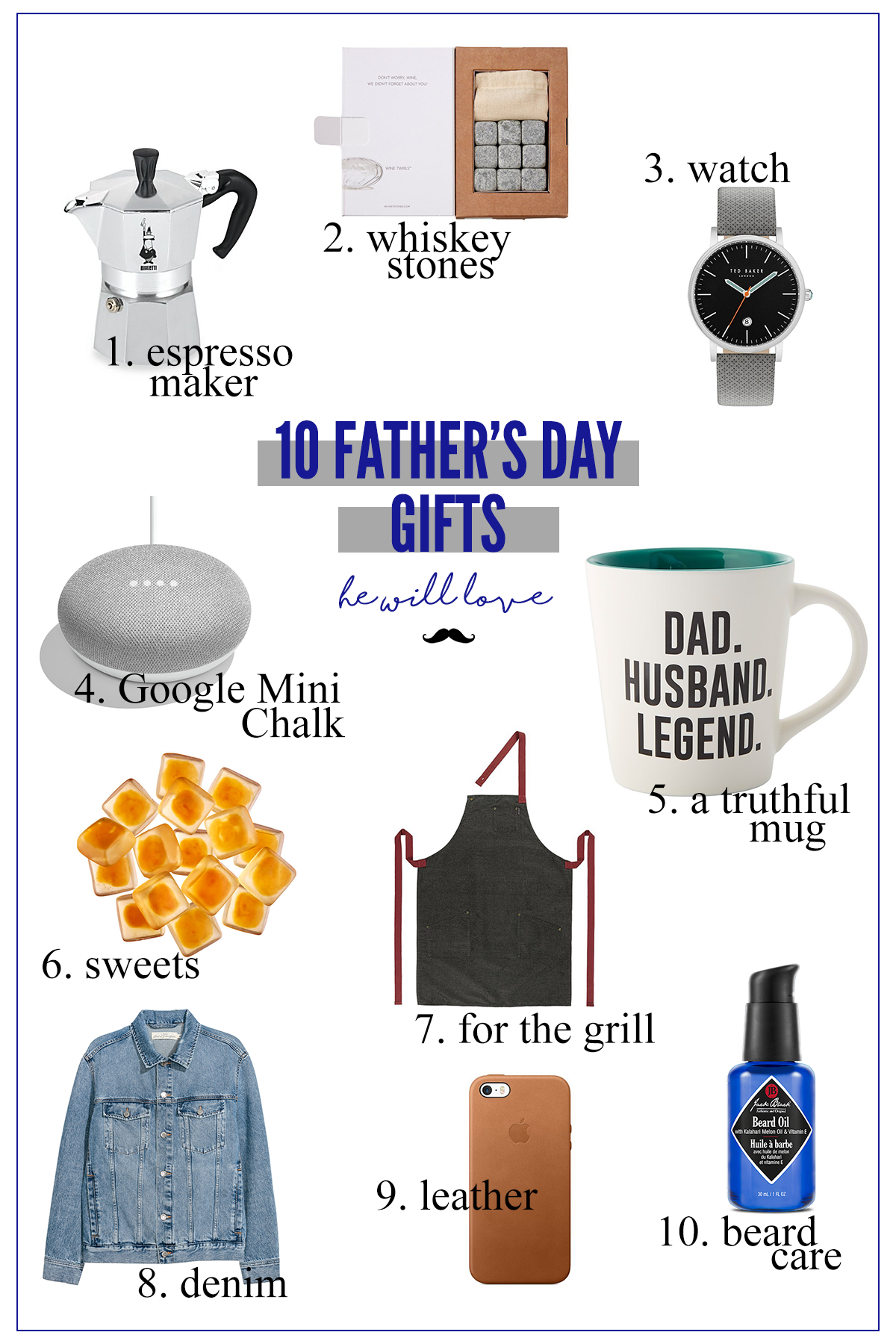 Ten fabulous gift ideas for all of the deserving dads and dad-figures.