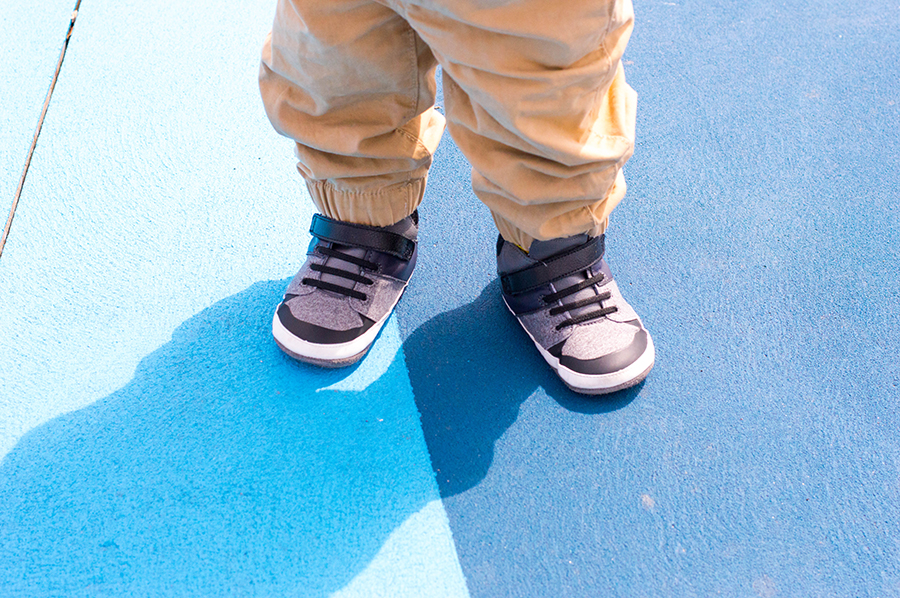 Spring has sprung and there's also a spring in Leo's step. One thing's for sure: Robeez Mini Shoez are just what every toddler needs.