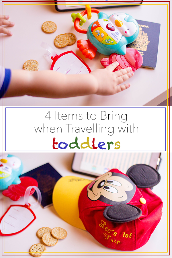 Travelling with toddlers doesn't have to be intimidating - we've got 4 items that are must-haves when you're on the road. Our tips will make your trip a breeze! #travel #toddlers #travellingwithtoddlers