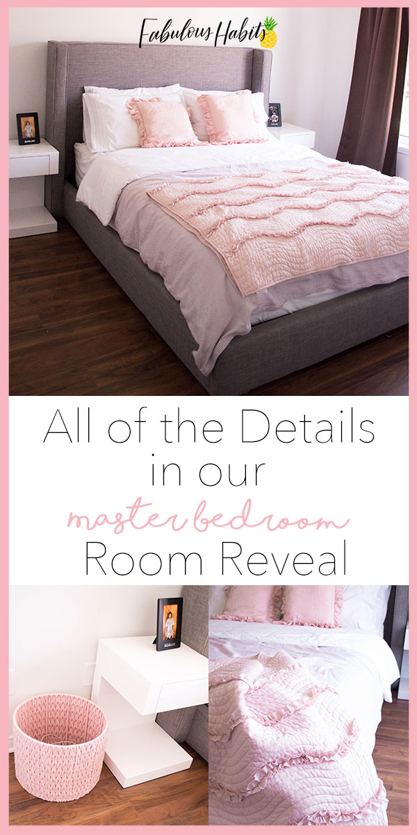It's cute, it's pink - and it's totally cozy! Ladies and gents, I present to you our master bedroom room reveal - I can't wait to show you all the details to make this house a home. #roomreveal