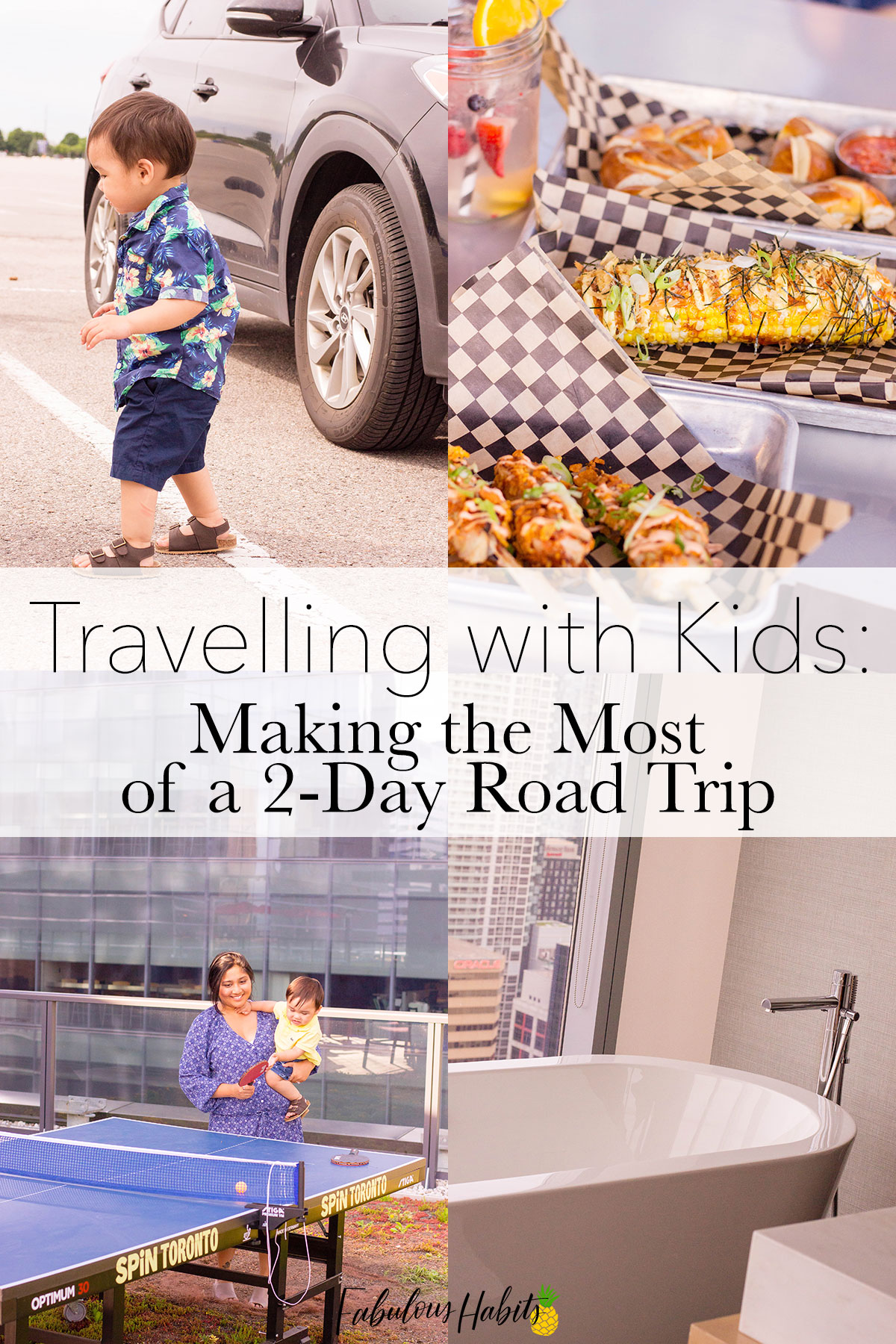 Planning on a quick family getaway? Here are some of our tips for a two-day road trip with toddlers!