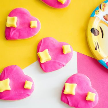 Gimme all the heart eyes with these emoji cookies.