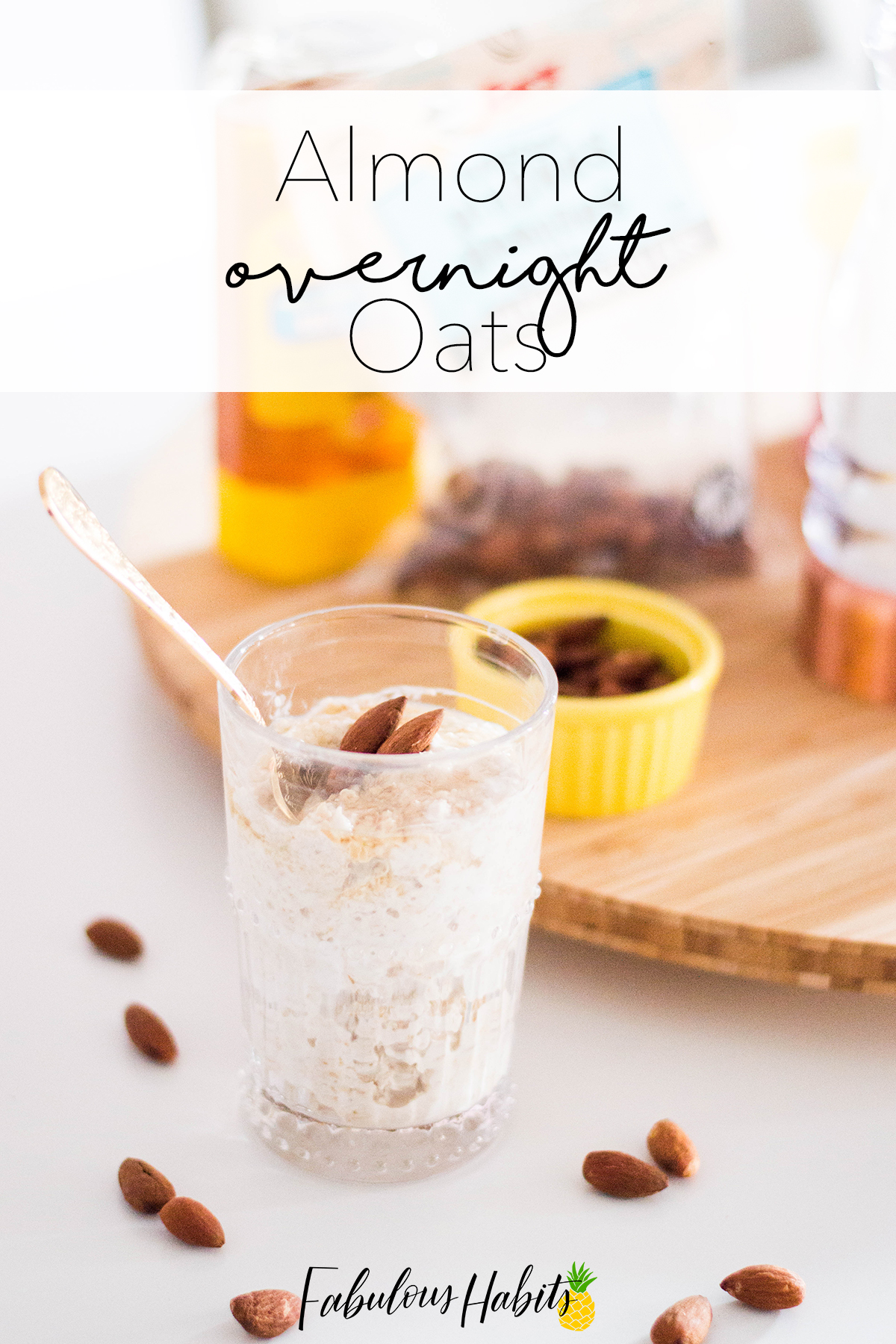 A simple breakfast to kick off your day. We turn to Almond Overnight Oats as a healthy and tasty solution for busy mornings.