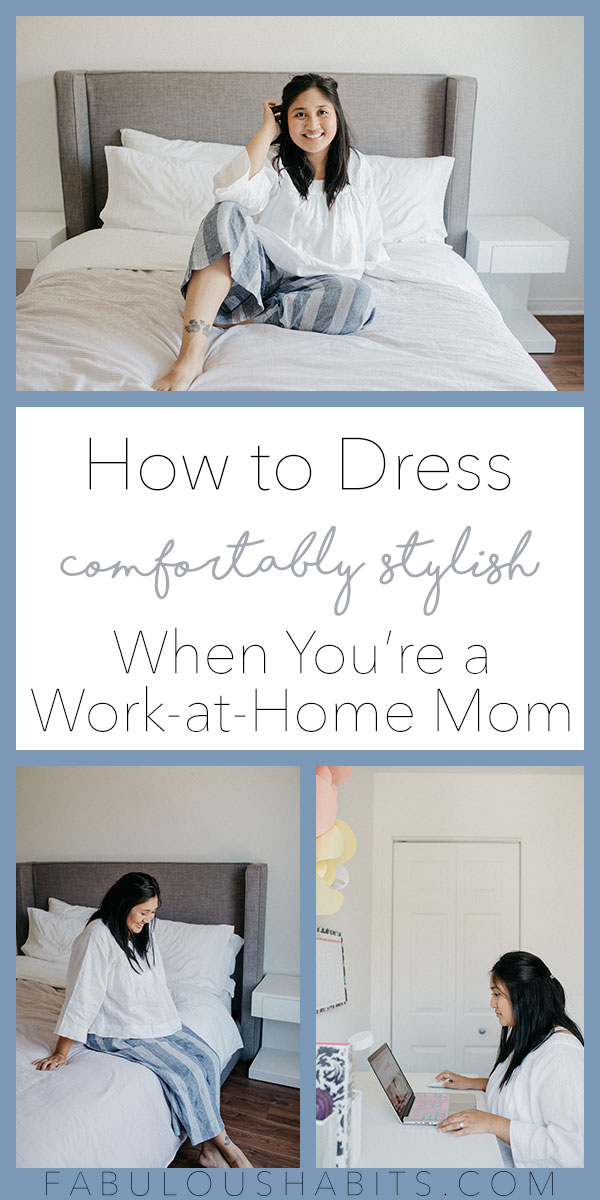 How to dress comfortably stylish when you're a WAHM. Hint: it's all about the loungewear! #WAHM
