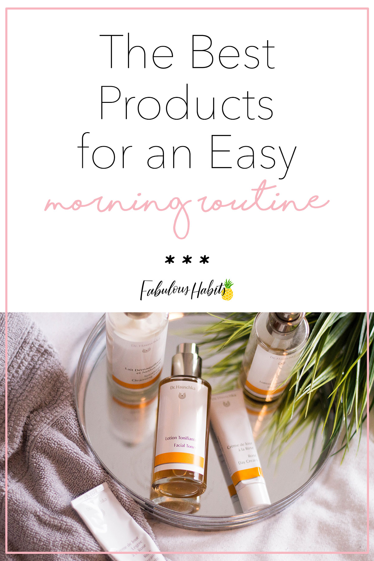 These are the products I turn to for a super effective daily morning routine #drhauschka #organicselfcare