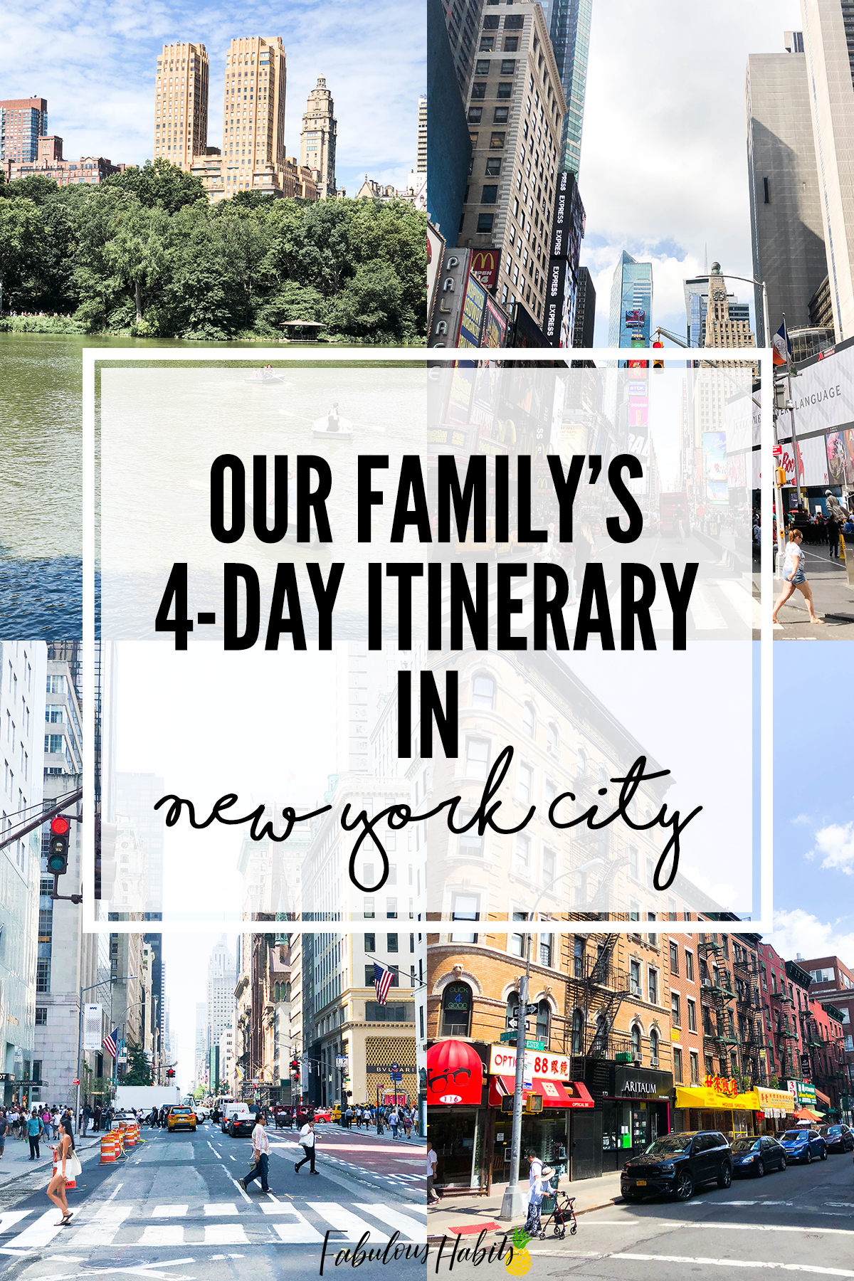 How to spend 4 days in New York City - here's our family's New York City itinerary.
