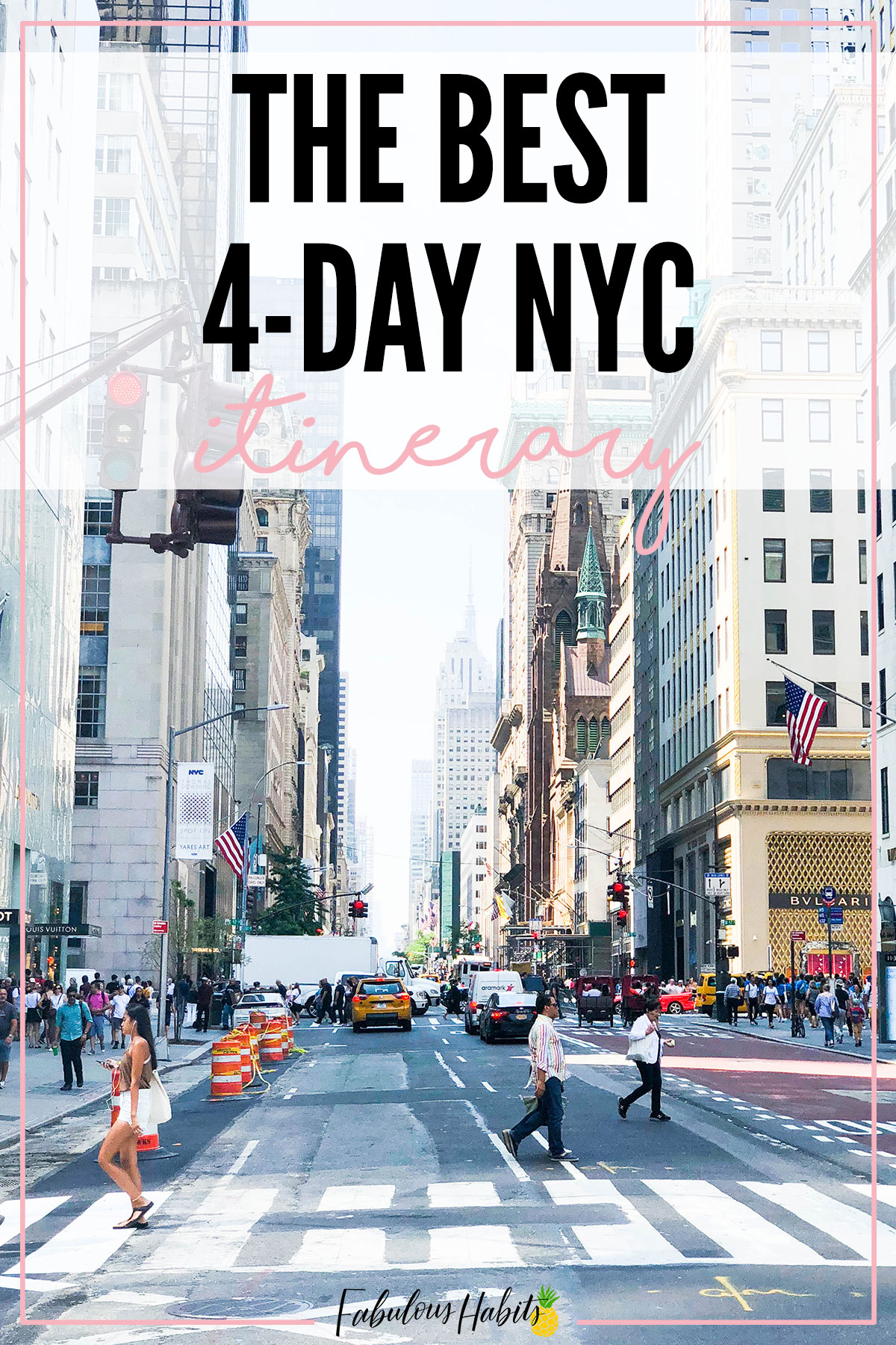 Here's how to spend 4 perfect days in NYC. This is our family's New York City Itinerary - enjoy and safe travels! #NYCvacation