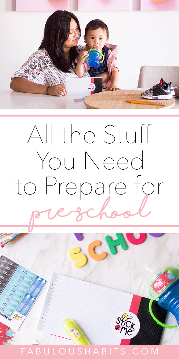 Here are all the things your little one will need to prepare for preschool. Here's how we approached preschool prep for our toddler! #preschoolprep