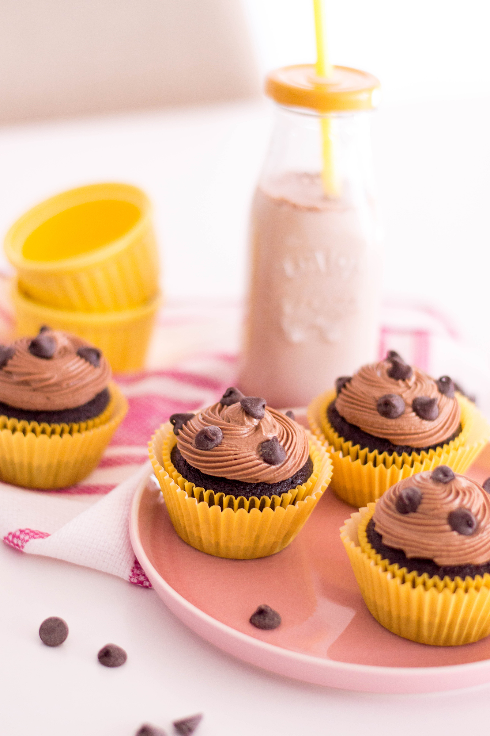 Easy Chocolate Cupcake Recipe: with Double Chocolate & Chocolate Milk