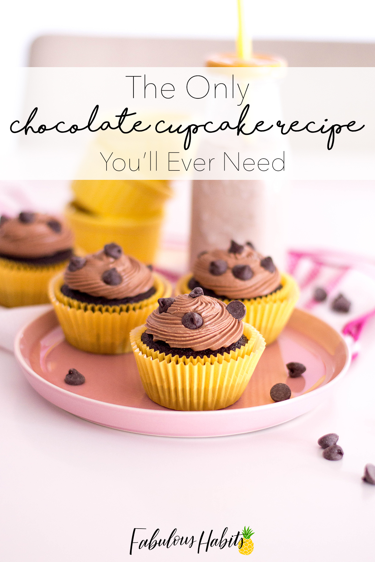 Easy Chocolate Cupcake Recipe With Double Chocolate