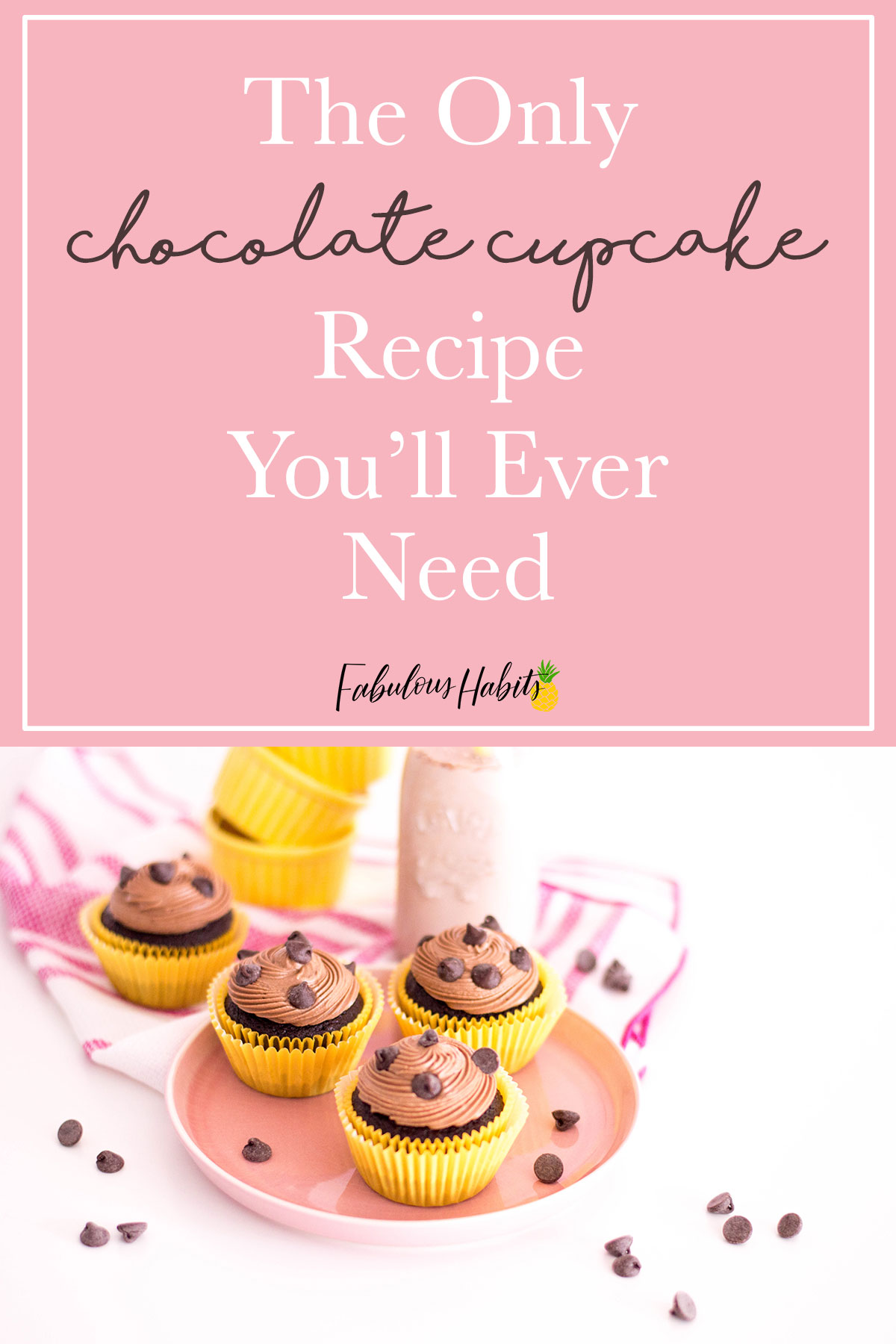 How to bake the easiest chocolate cupcakes. These treats are so delish and a key recipe to have in your family's cookbook! Try it for yourself! #chocolatecupcakes