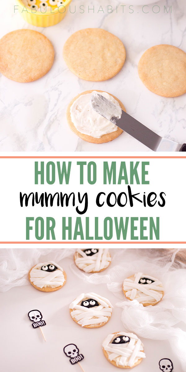These mummy sugar cookies are a blast - both to make and to serve! Liven up your trick or treat offering with these super cute cookies! #halloweendesserts