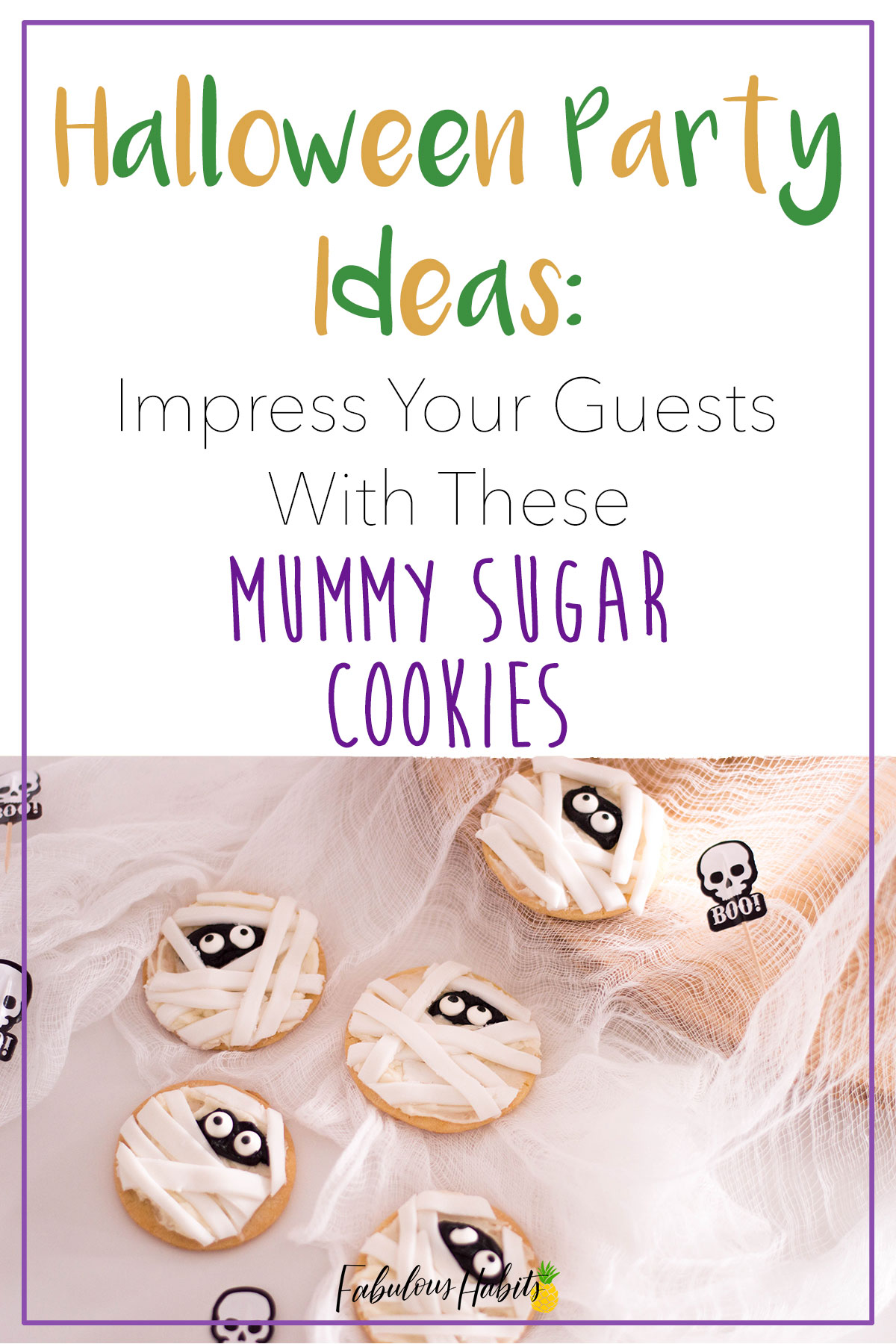 It's time to get into the Halloween spirit! These mummy sugar cookies will be the perfect addition to any Halloween sweet table. How will you be celebrating the spookiest time of the year? #halloweenrecipes