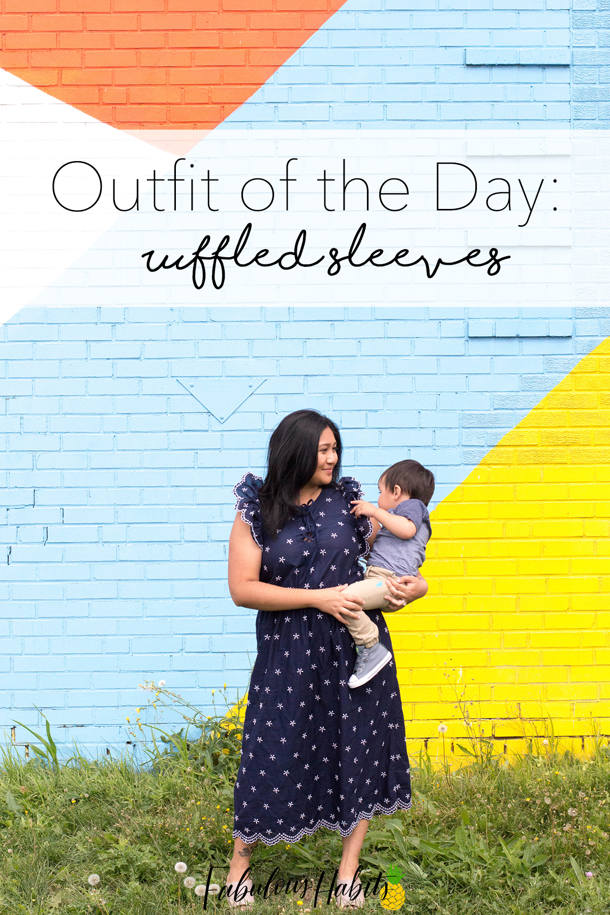 How I'm transitioning my favorite summer dress into the autumn season – ruffled sleeves and all.