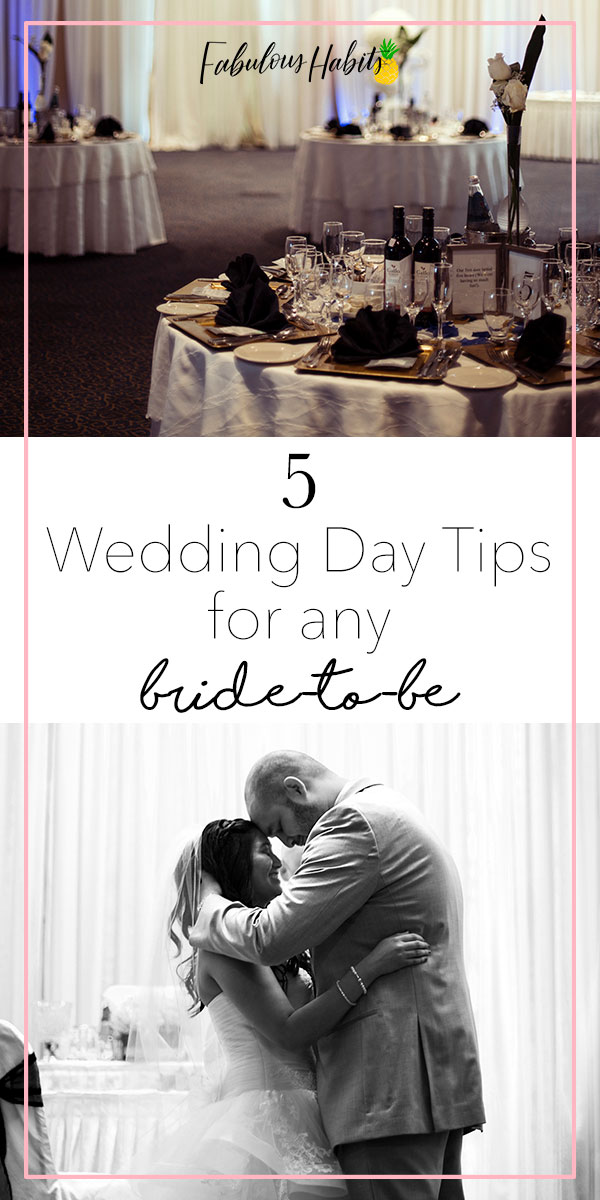 Is your special day coming up? We've got some wedding tips for any blushing bride - important ones to make your wedding day that much more memorable! #weddingtips