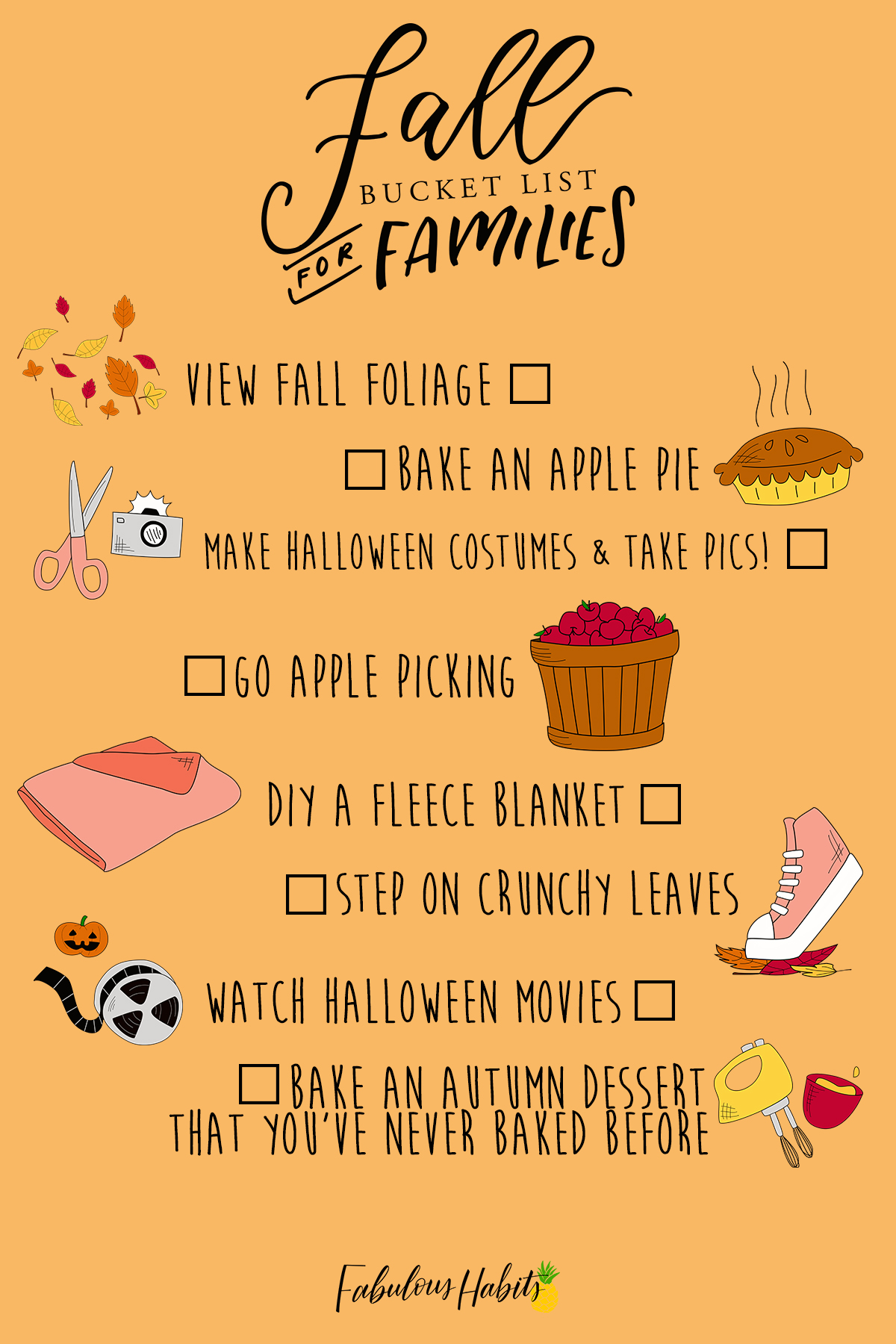 Here are the must-do's of the season! I present to you: our official Fall Bucket List for Families