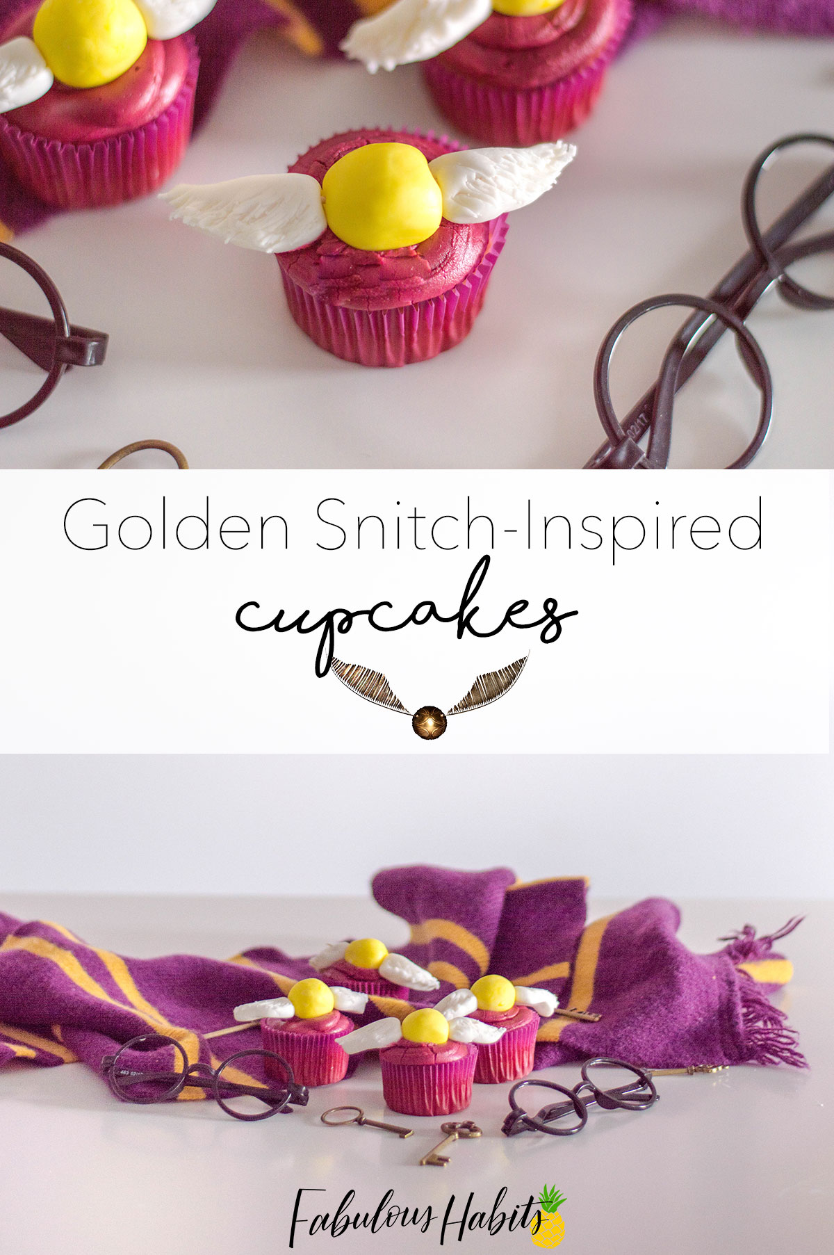 Feeling magical? These Golden Snitch Cupcakes are inspired by our favorite wizard and we can't wait to feast on them!