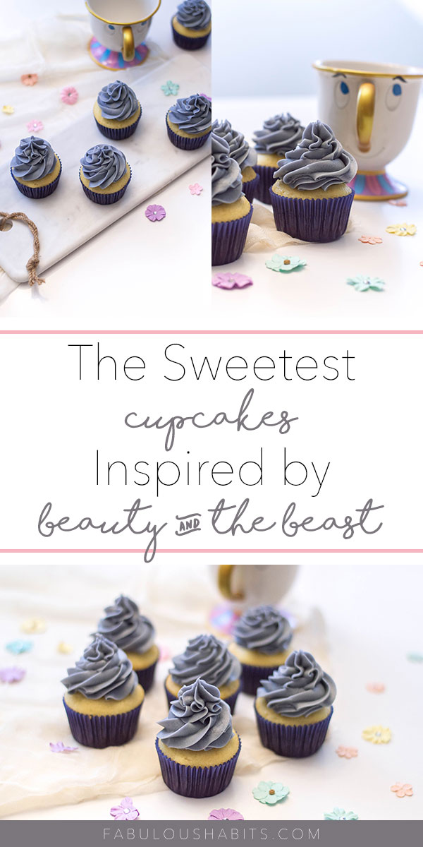 "Step-by-step instructions on how to make your very own ""grey stuff"" cupcakes - totally inspired by Beauty and the Beast! Bon appetit! #beautyandthebeast"