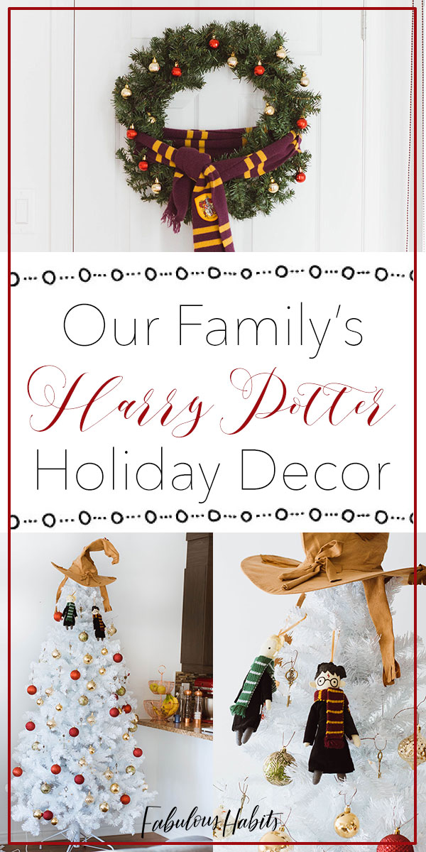Holiday decor inspired by Harry Potter. Feel the magic and enjoy the beautiful HP-inspired Christmas decorations! #harrypotterhome