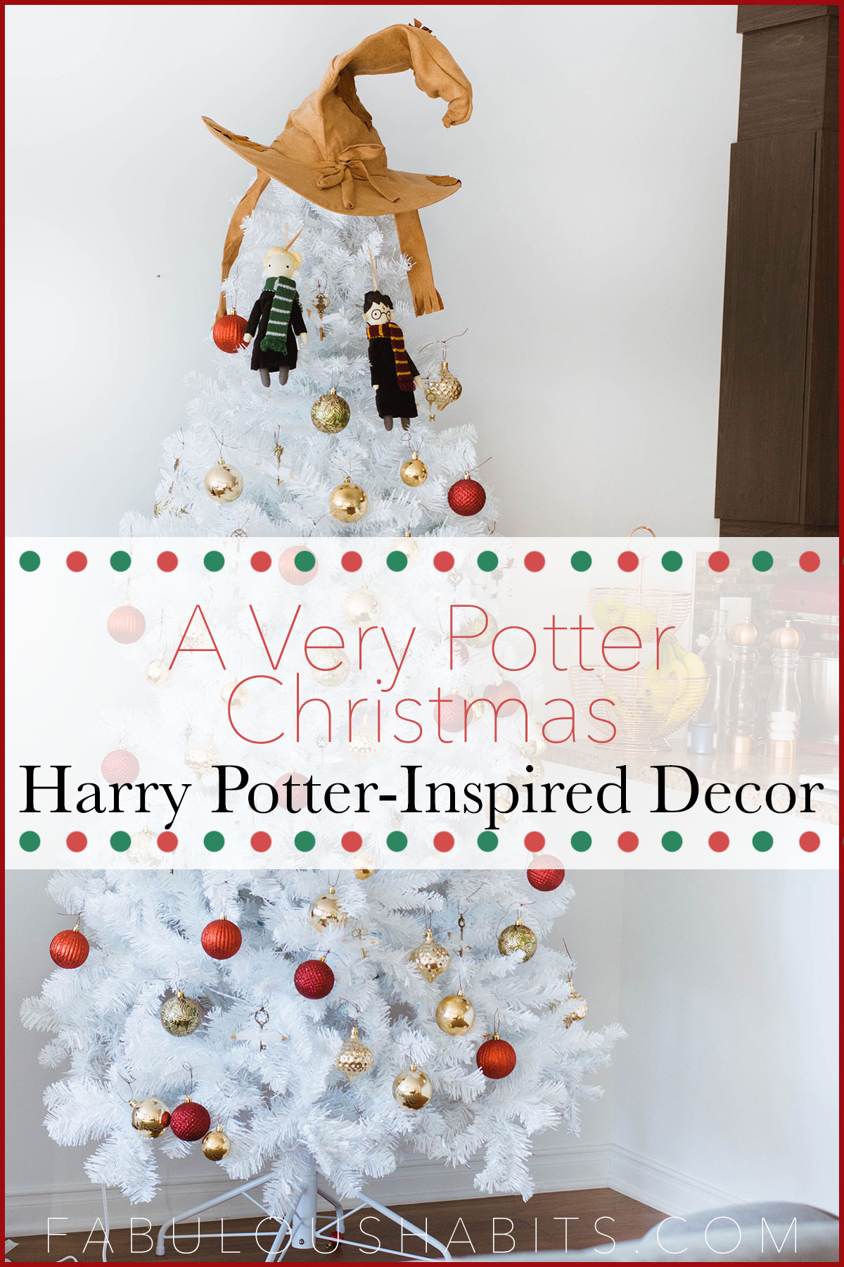 A Very Potter Christmas: here's our family's Harry Potter inspired Christmas decor.