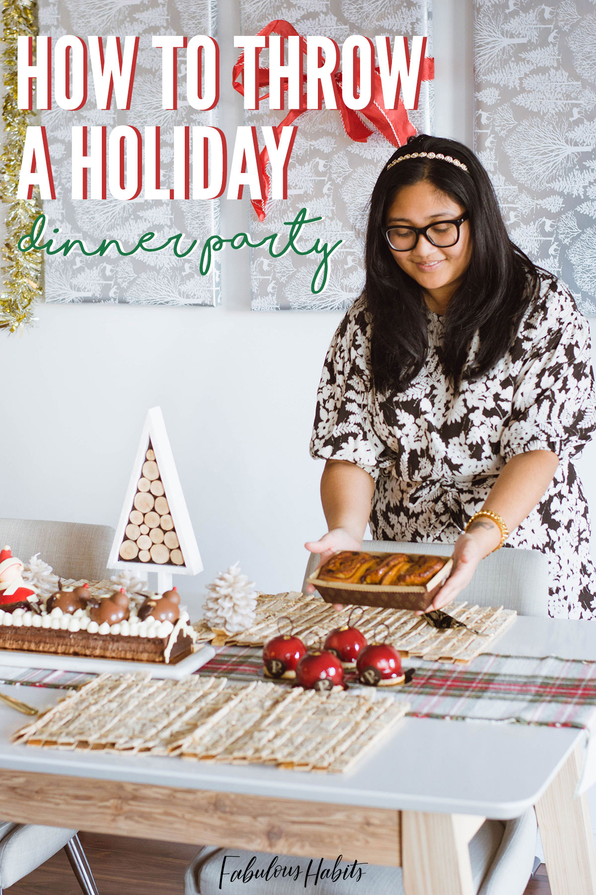 Playing host/hostess this year? Here are my surefire tips on how to host a holiday dinner party - without any of the stress! #holidaydinnerparty
