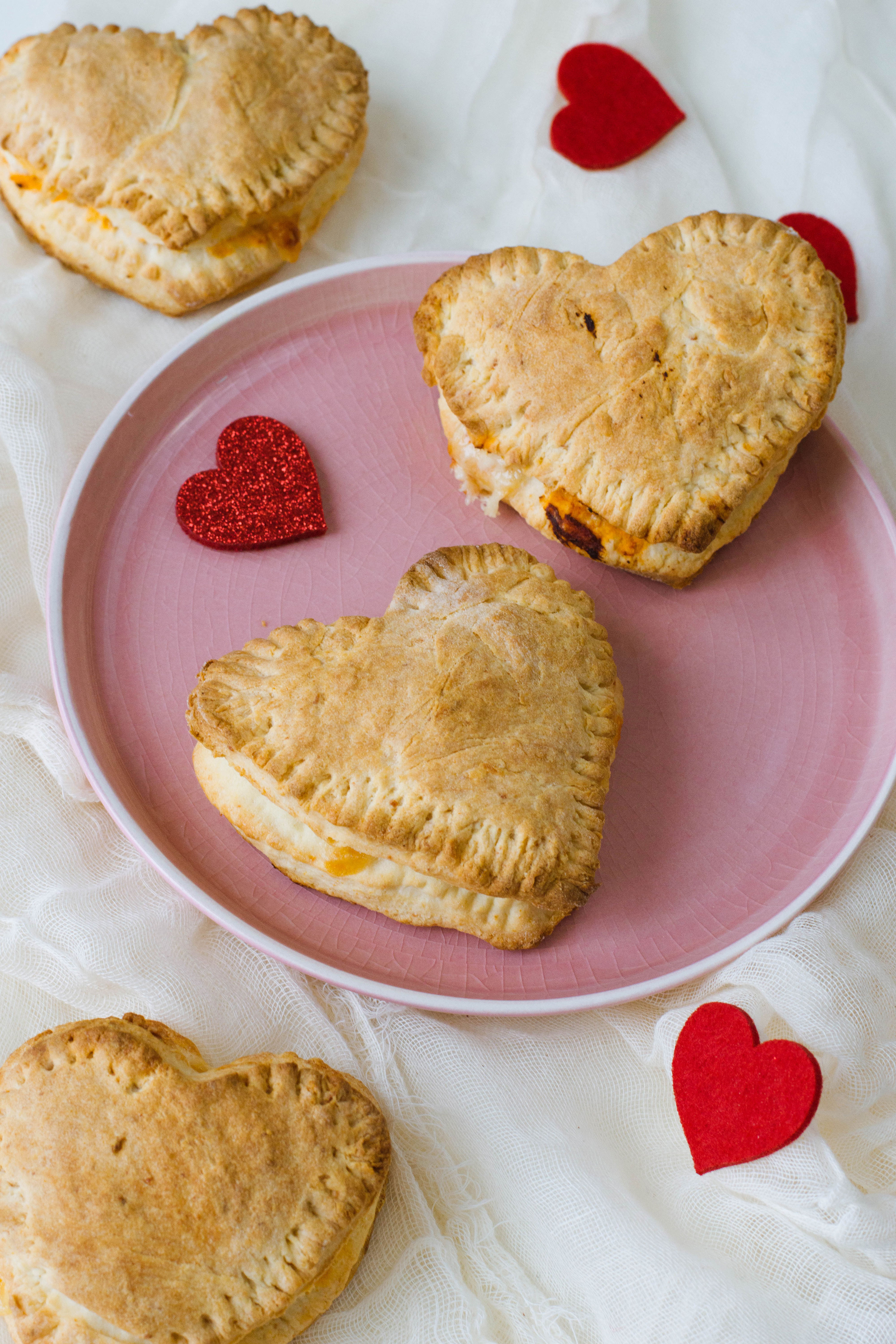 Homemade Pizza Pockets for Valentine's Day