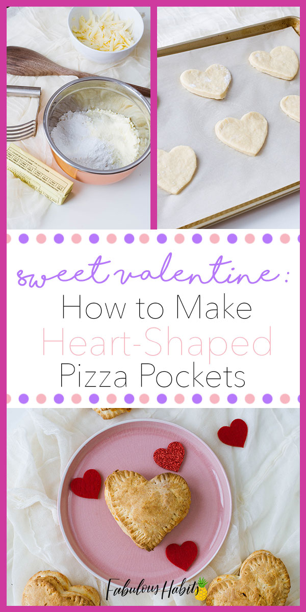 These homemade pizza pockets are the perfect Valentine's lunch! Go on and make this for your one and only! #pizzapockets