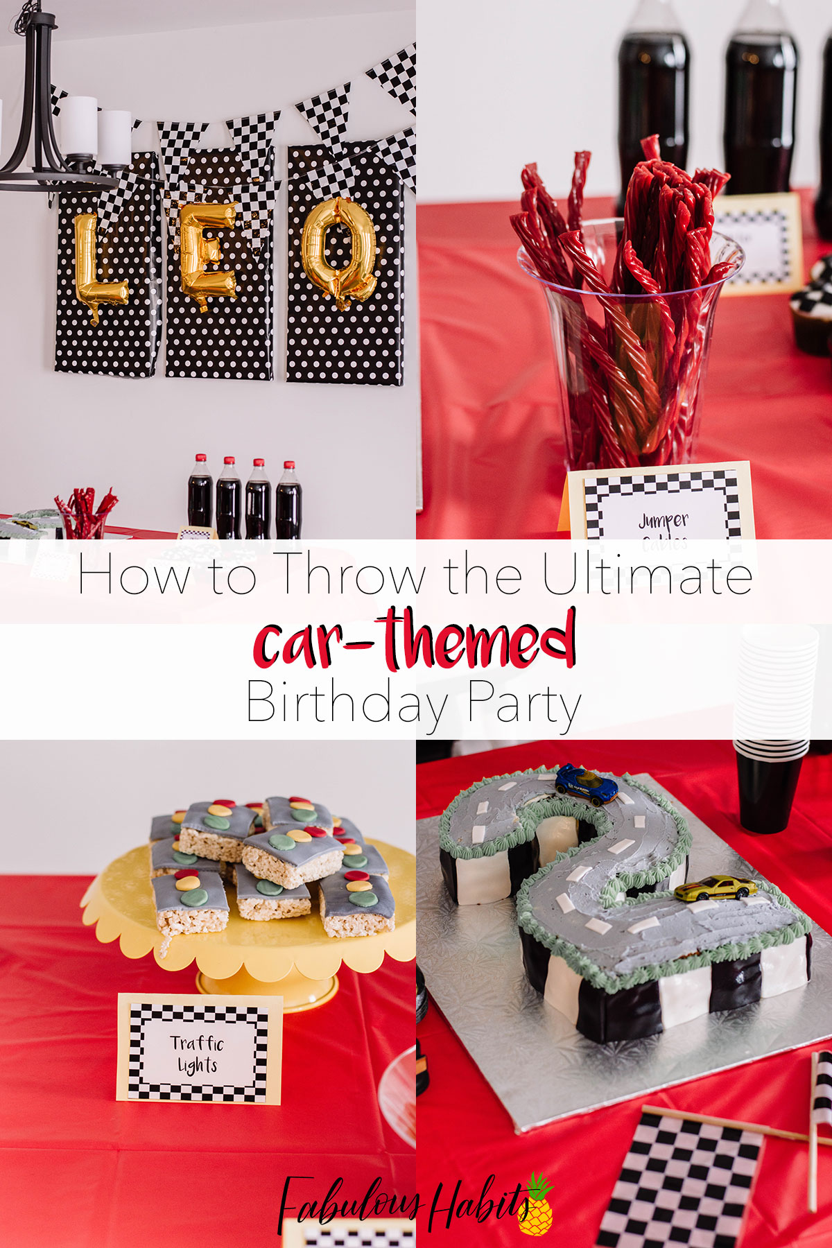 Thinking of throwing a car-themed birthday party? Here are all the elements you need... down to the last detailed touch! Vroom, vroom!