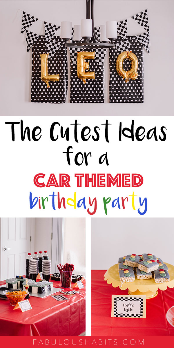 Here are some ideas for your upcoming car-themed birthday party - perfect for any age! #carthemedbirthdayparty #boybirthdayparty #birthdaypartyideas