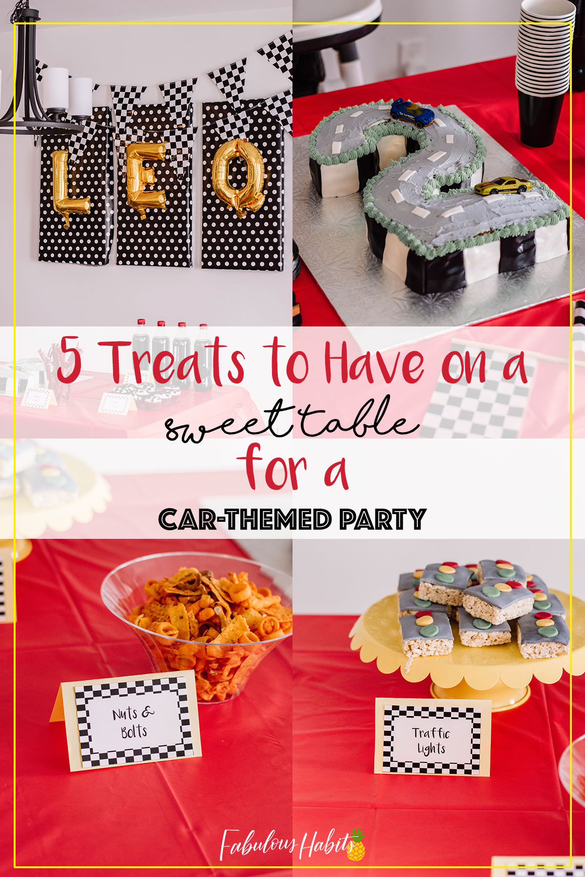 Planning a car-themed birthday party? Here are 5 treats that are must-haves! You'll totally wow your guests and your little one will absolutely love it! Vroom, vroom! Time to get our party-on for your car-themed birthday party! #carthemedbirthdayparty #cartheme #birthdayparty #boybirthdayparty